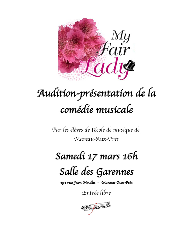 Affiche Audition My Fair Lady