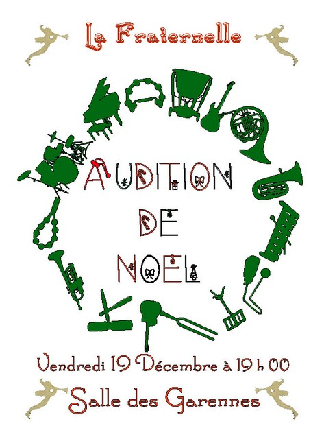 Affiche Audition Noel 2014