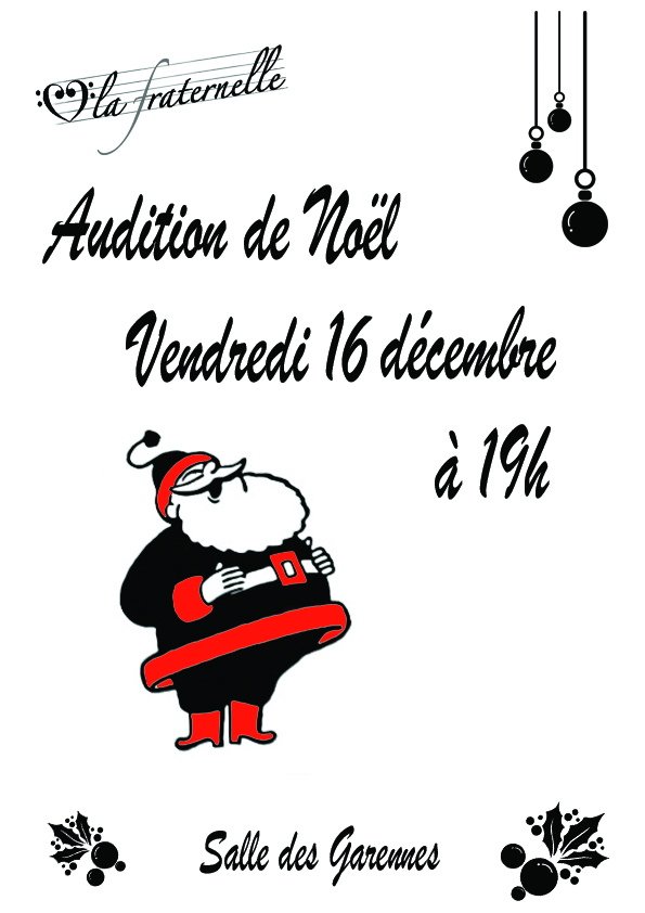 Affiche Audition Noel 2016